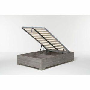 Letto Contenitore Cangu' Bed Box 120X190 C/Piedini Rovere Grigio Offerte e sconti