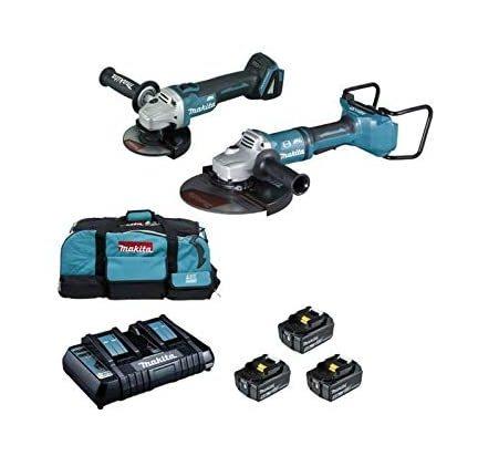 Makita DLX2245PT1 – Set di accessori per la foratura della batteria, blu Bricolage e utensili