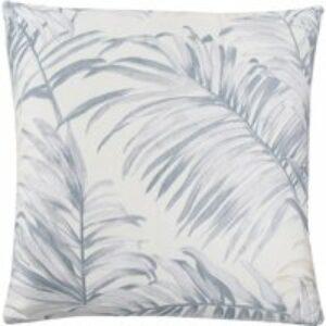 Cuscino arredo in raso Tropicalia azzurro, 40x40 cm