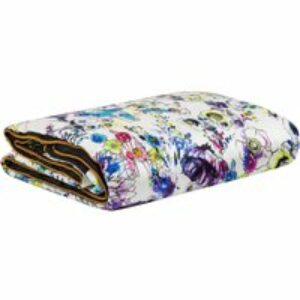 Plaid in seta Astrogarden bianco, 130x180 cm