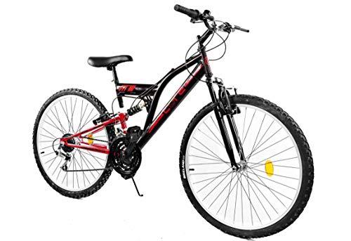 BDW Mountain bike Goetze CORE 24 pollici, sospensione completa a 18 marce, per bambini, per bambini da 120 a 155 cm… Biciclette