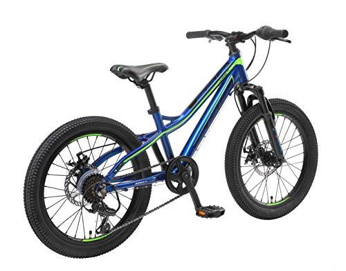 BIKESTAR MTB Mountain Bike Alluminio per Bambini 6-9 Anni | Bicicletta 20 Pollici 7 velocità Shimano, Hardtail, Freni a… Biciclette