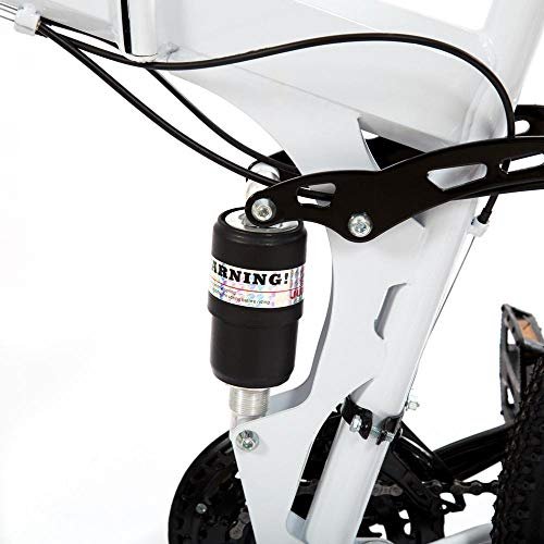 DOMDIL – Mountain Bike Pieghevole per Uomini e Donne Adulti, Bicicletta Sportiva da Montagna, MTB con 21-Stage Shift, 24… Biciclette