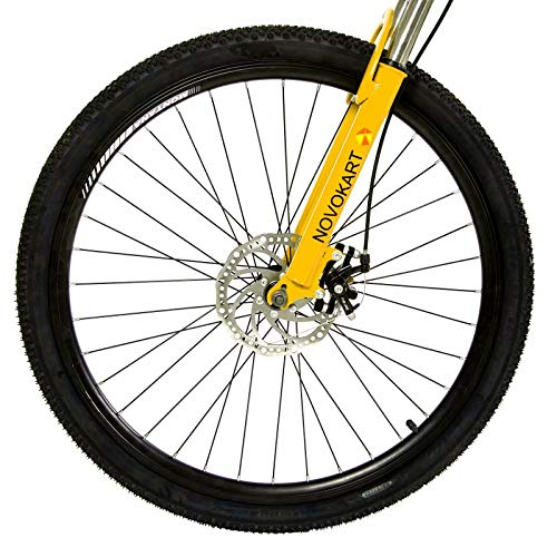 DOMDIL – Mountain Bike Pieghevole per Uomini e Donne Adulti, Bicicletta Sportiva da Montagna, MTB con 24-Stage Shift, 26… Biciclette