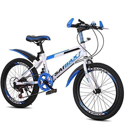 FLYFO Mountain Bike, Bici da Studente in Acciaio al Carbonio da 20/22 Pollici, Scooter A 7 velocità per Bambini… Biciclette