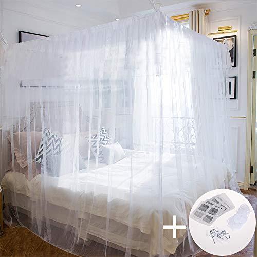 Faburo Zanzariera Quadrata 220x200x200 per interni ed esterni colore bianco Casa e giardino