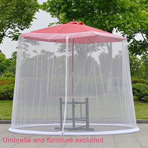 Fayeille – Copertura parasole per tavolo da ombrellone, con ingresso con cerniera, pieghevole, per il giardino Casa e giardino
