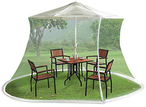 Infactory Zanzariera Ombrello: Zanzariera per ombrelloni, 330 x 250 cm, Maglia 220, Bianca (Zanzariera Supporto per… Casa e giardino