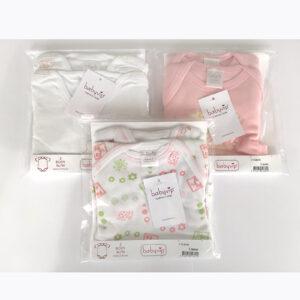 Set 6 Body neonato Babyvip mezza manica 100% cotone colori assortiti