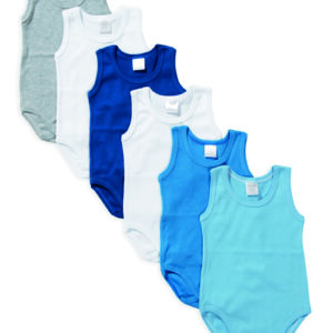 Set 6 body neonato Babyvip spalla larga colori assortiti