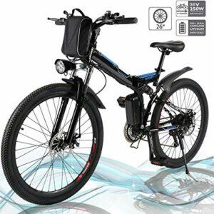 Dove acquistare Jackbobo Mountain Bike Pieghevole, Bici elettriche da Strada a Sospensione Completa con Freni a Disco, Bici da Mountain…
