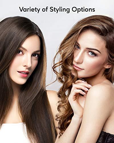 KIPOZI piastra per capelli professionale, Piastra in Titanio Lisciatura o Arricciatura i Capelli senza Danno, Display… Cura della persona