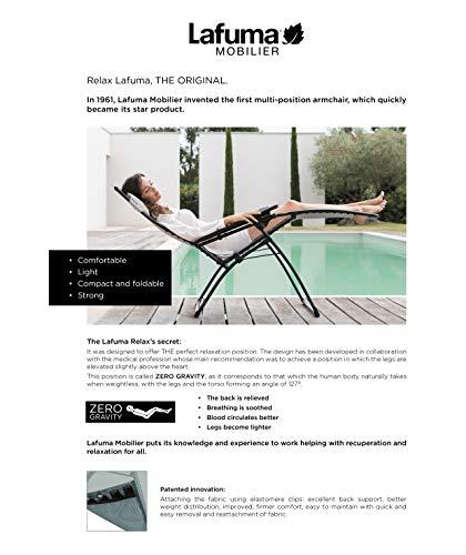 LAFUMA Futura Sdraio in Alluminio con Telo Textilene Grigrio, Multicolore, Unica Casa e giardino