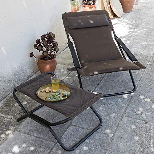 Lafuma Sedia a sdraio, Pieghevole e regolabile, Transabed, Air Comfort, Colore: Talpa, LFM2865-7057 Casa e giardino