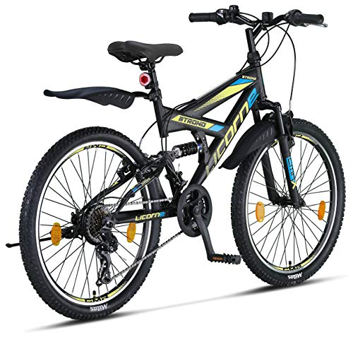 Licorne Bike Premium Mountain Bike Strong da 26 pollici, bicicletta per ragazzi, ragazze, donne e uomini, con cambio… Biciclette