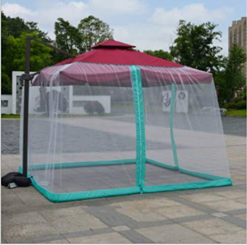 Mitef, zanzariera per ombrellone da tavolo, per giardino, campeggio all'aperto Casa e giardino