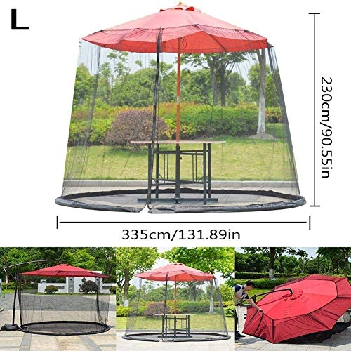 Ombrellone da giardino Schermo da tavolo Parasole Zanzariera Zanzariera per ombrellone, Ombrellone da giardino da… Casa e giardino