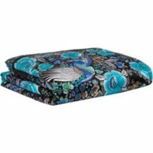 Plaid in seta Enchanted azzurro, 130x180 cm