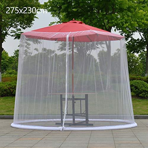 Relax love Zanzariera Ombrellone da Giardino 275x230cm Antiinsetti Antivento Parasole da Giardino in Rete (275 * 230cm… Casa e giardino