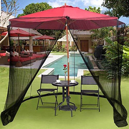 UWY Copertura della zanzariera per ombrellone da Giardino, zanzariera cilindrica in Poliestere con Cerniera e Tubo dell… Casa e giardino