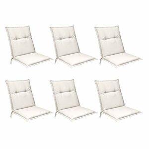Beautissu Set di 6 Cuscini per Sedia da Giardino Base NL 100x50x6cm Cuscini per Sdraio ed Esterni, Comoda e soffice… Offerte e sconti