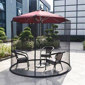 Portatile Zanzariera for ombrellone, schermo all'aperto giardino Ombrellone Tavolo Patio Zanzariera poliestere della… Offerte e sconti