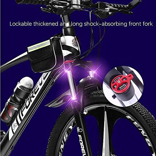 giyiohok Mountain Bike 27,5 Pollici Ruote a 3 Razze Blocco Forcella Anteriore off-Road Bicicletta Doppio Freno a Disco 4… Biciclette