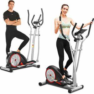 ANCHEER Macchina Ellittica Fitness Machine Cyclette Ellittica con 8 Livelli di Resistenza/Display LCD/Porta Tablet… attrezzature sportive