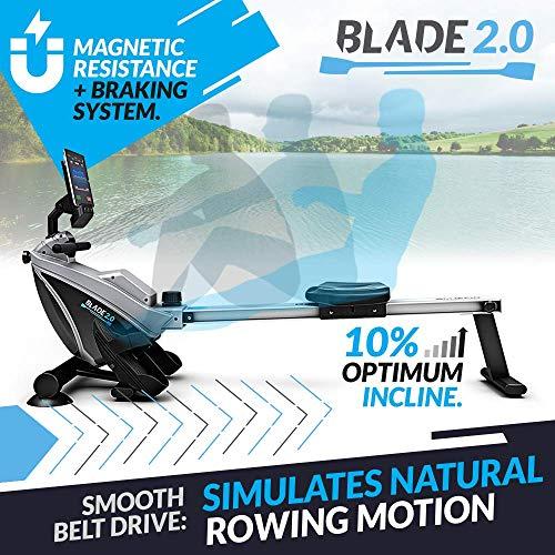 Bluefin Fitness Blade Vogatore Pieghevole per Casa | Rowing Machine | Resistenza Magnetica | 8 Livelli di Tensione… attrezzature sportive