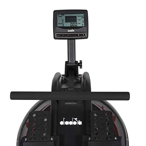 Diadora Vogatore River Sistema Frenante ad Acqua con Regolazione Elettrica e Ricevitore Cardiaco Wireless Sport e fitness