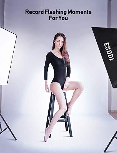 ESDDI Softbox Fotografico Illuminazione Kit 2x 50x 70cm, 2x 85W Lampadine con Continua Luce 5500K Fotografia, 2… Foto e Video