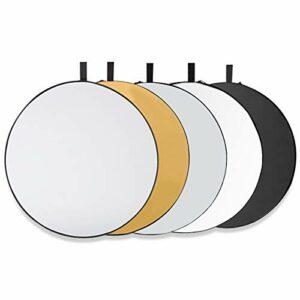 Dove acquistare Tonsooze 5in1 Riflettore 80CM Pannello Riflettente Pieghevole Multi-disco con Borsa, Traslucido, Argento, Oro, Bianco e…