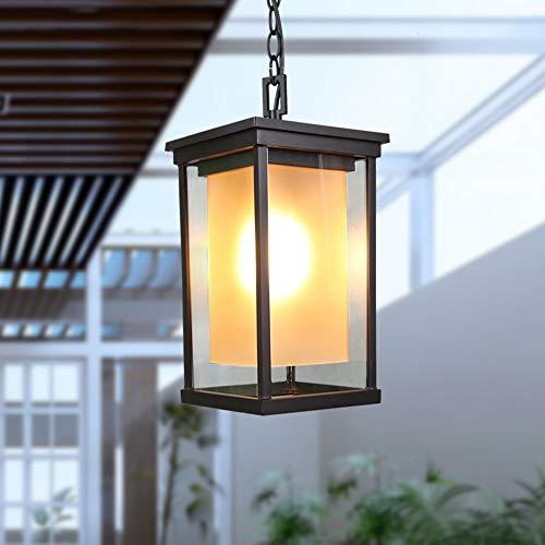 Impermeabile soffitto Esterno Antico Rustic rettangolare lampadario Mediterraneo lampada sospensione da giardino Balcone… Casa e giardino