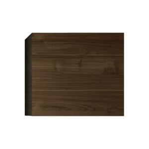 Elemento murale quadrato finitura legno scuro ETERNEL