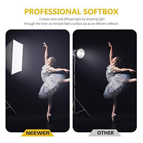 Neewer 700W 60x60cm Softbox con E27 Presa Elettrica Kit di Illuminazione per Ritratto da Studio Fotografico, Fotografia… Foto e Video