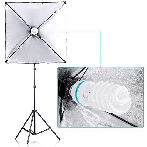 Neewer [Versione Base] Kit d'Illuminazione per Fotografia: 2,6x3m Sistema di Supporto per Fondali, Set di Luce Continua… Foto e Video