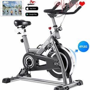 Profun Fit Bicicletta Spinning Bike Cyclette Fitness Cardio Allenamento Casa Ciclismo Corsa Macchina Uomo Donna Display… attrezzature sportive