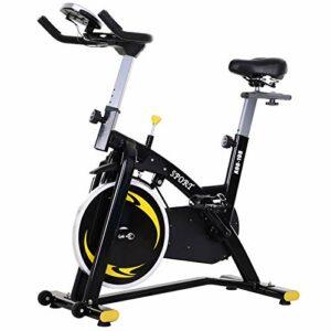 Dove acquistare homcom Spinning Cyclette, Spin Bike Regolabile con Schermo LCD e Volano 10kg per Casa o Palestra, Nera e Gialla
