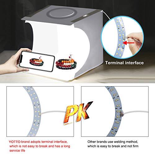YOTTO Tenda Studio 24x23x22cm fotografico portatile Fotografia Luce Tenda 64 LED Scatola Pieghevole Mini Light Box Con… Foto e Video
