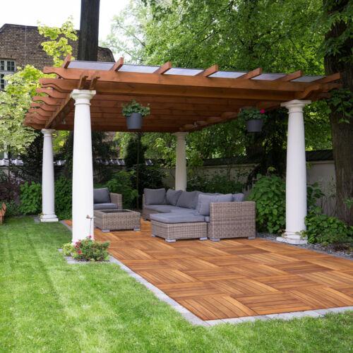 Mattonelle in Legno da Giardino Piastrelle di Acacia 30×30 Terrazza 39 Pezzi Per il giardino