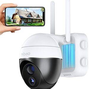 15000mAh Batteria Ricaricabile Telecamera Wifi Interno / Esterno, Mibao 1080P Videocamera Senza Fili , Impermeabile IP65… Sicurezza e videosorveglianza