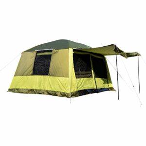 Outsunny Tenda da Campeggio con Veranda 8 Persone 410×310×225cm Campeggio e trekking