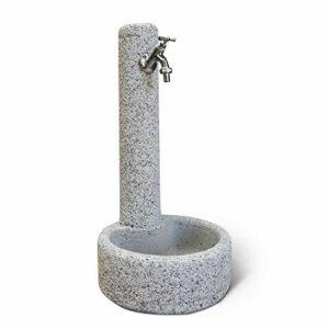 KAM Fontana da Giardino Esterno in Cemento Pietra Modello VERCELLI Casa e giardino