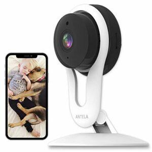 Telecamera Wi-Fi Interno 1080P, ANTELA Videocamera di Sicurezza Domestica Compatibile con Alexa ,Telecamera IP per… Sicurezza e videosorveglianza