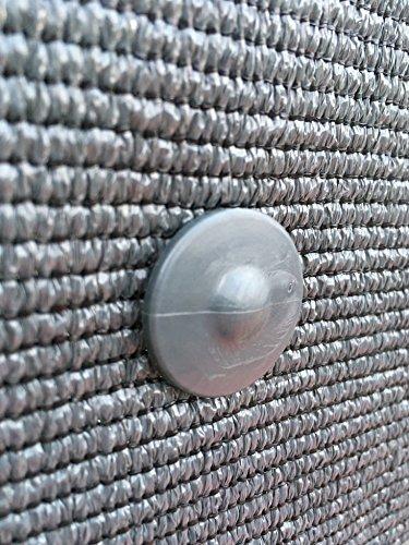 30 clip di fissaggio GRIPNET trattate anti-UV per tela di ocultacion su pannelli rigidi (diametro perno 5 mm) Casa e giardino