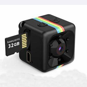 Mini Telecamera Spia Nascosta con Micro sd 32GB, Full HD 1080P Microcamera Spia con Rilevamento di Movimento Portatile… Sicurezza e videosorveglianza