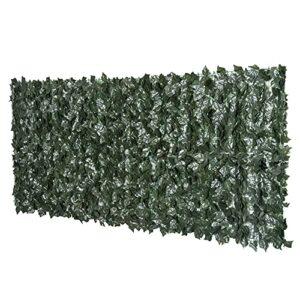 Outsunny Rotolo di Siepe Artificiale per Balcone e Giardino in PE Anti-UV, Siepe Finta con Foglie Verde Scuro 240x100cm Casa e giardino