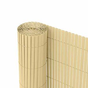 Dove acquistare Ribelli Canniccio PVC Recinzione recinto Balcone frangivento, colorazione:bambù, Distanza:3 Metri, rialzamento:80 cm