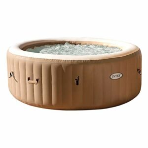 Intex 28428 Pure Spa Bubble Therapy, 216 x 71 cm 6 Posti, Sabbia, Con Pompa, Riscaldatore, Sistema Purificazione Acqua… Casa e giardino