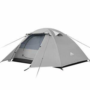 Forceatt Tenda Campeggio 2-4 Posti con 100% Anti UV And Impermeabile, con Borsa per Il Trasporto Facile da Montare… Campeggio e trekking